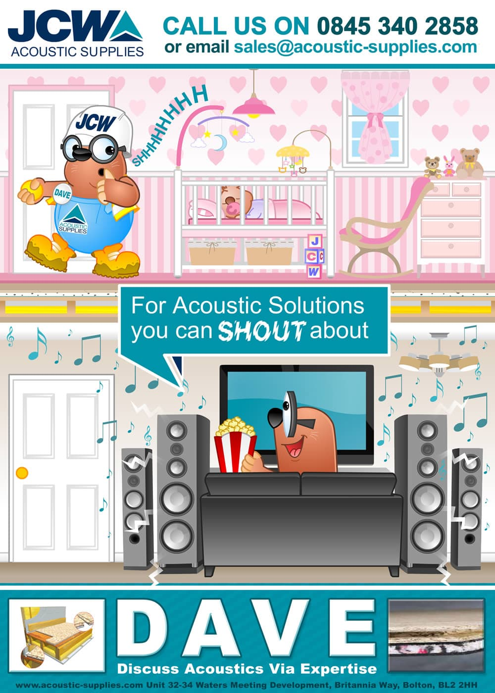 DAVE - JCW Acoustic Supplies Poster