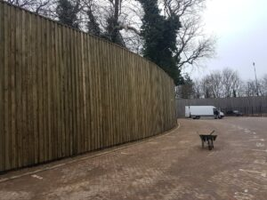 Acoustic fence for garden soundproofing