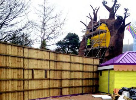 JCW Absorbent Soundscreen At Alton Towers